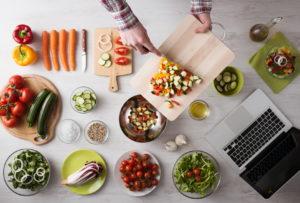 Hoofdgerecht met groenten