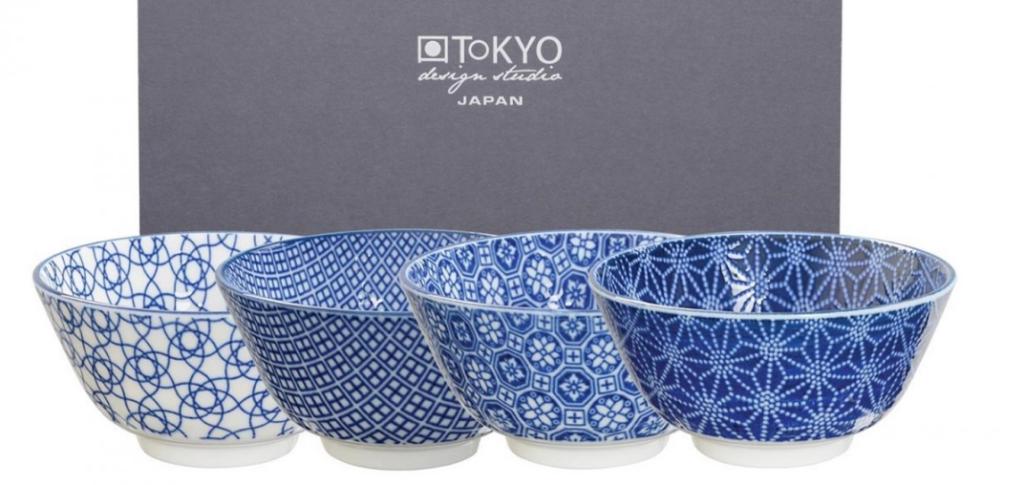 Tokyo Design Studio Nippon Blue Kommen - 12 cm - Set van 4