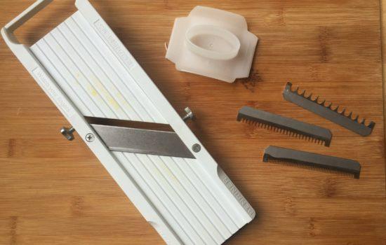 De mandoline helpt je raspen en snijden