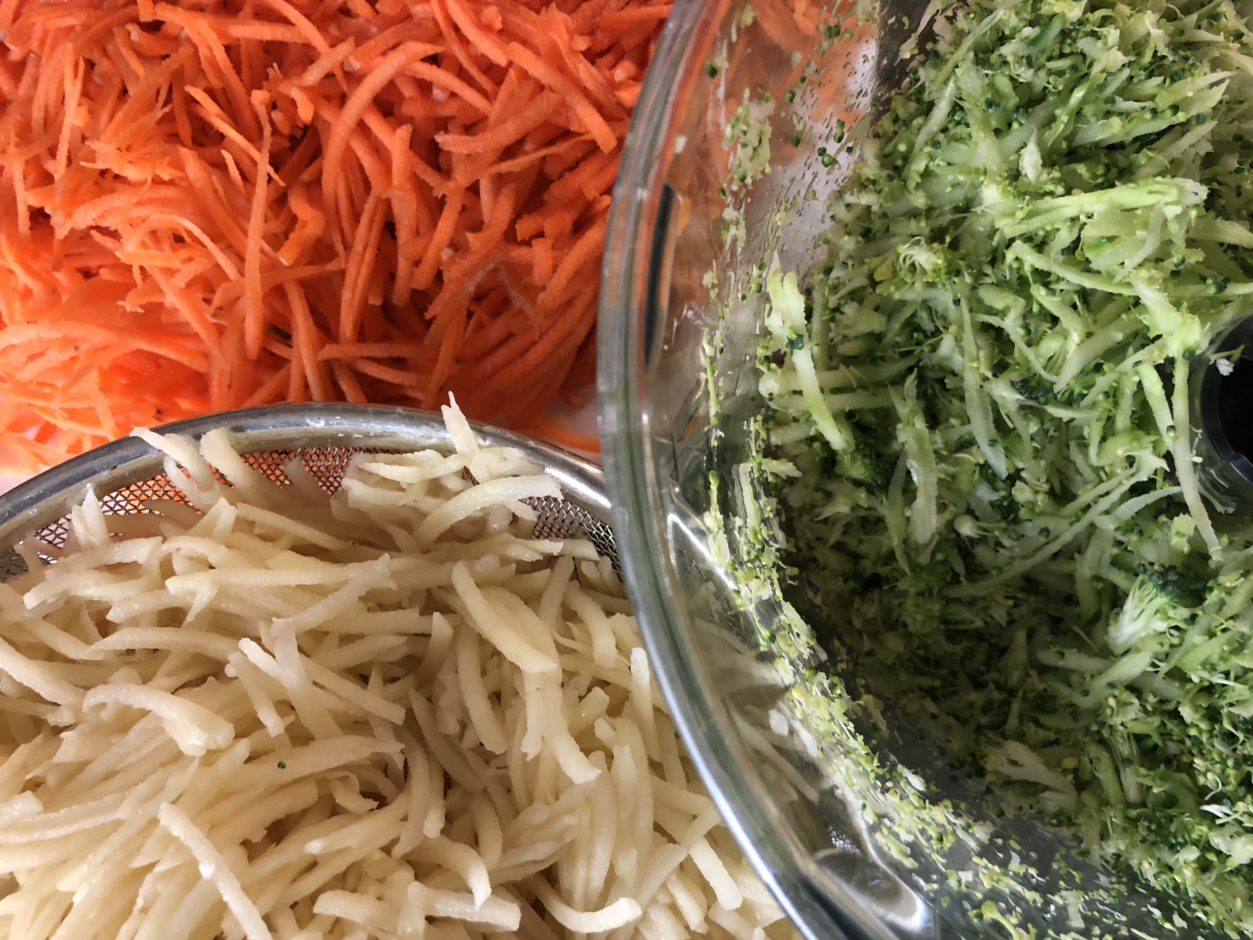 Rösti van groenten en aardappel